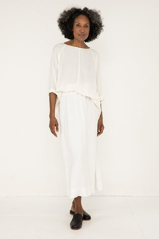 Artist Smock in Silk Crepe Ivory - Pat-OS