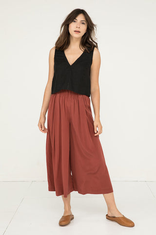 Andy Palazzo in Silk Crepe Rust - Molly-XS Short