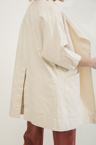 Harper Jacket in Cotton Canvas Natural
