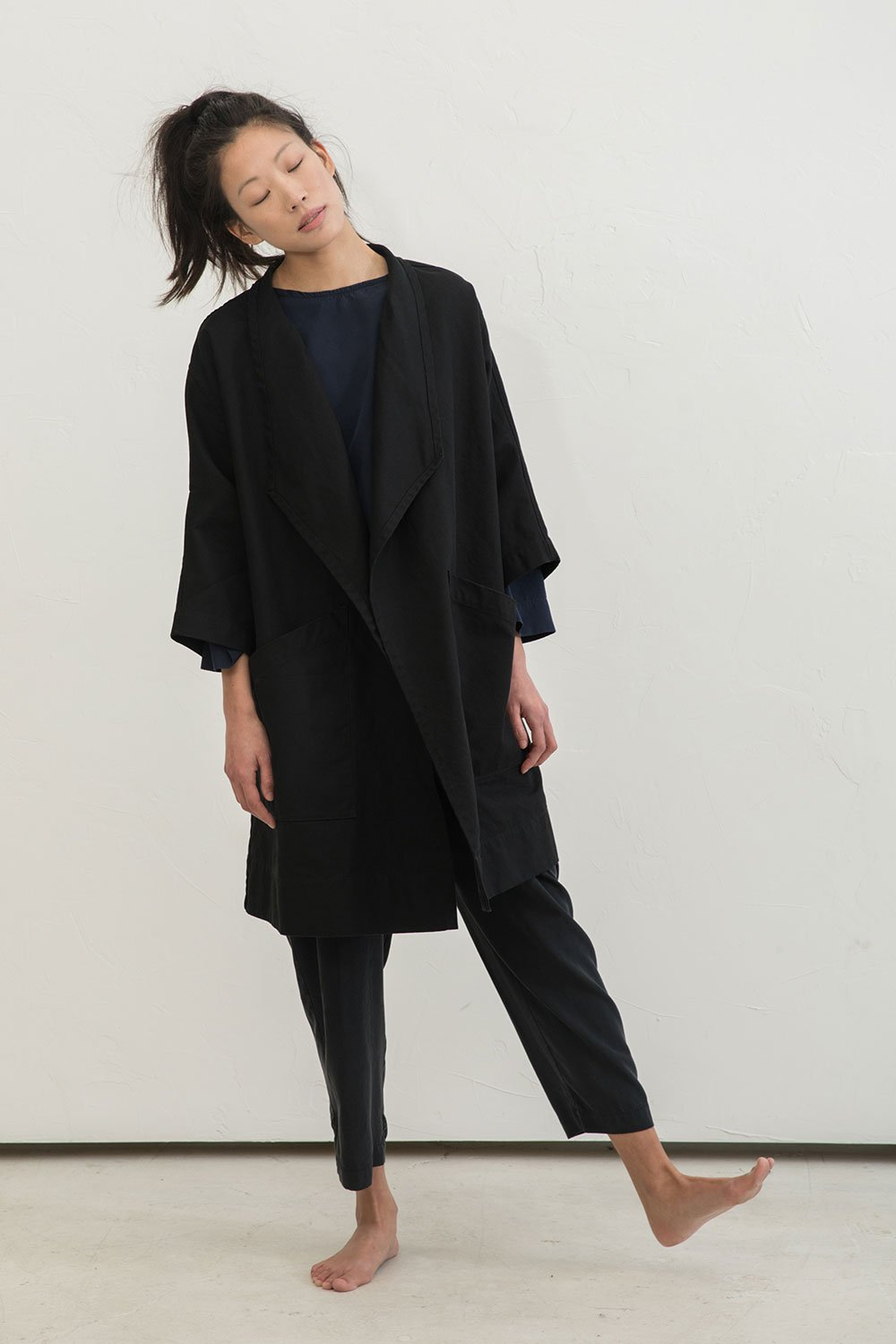 Harper Jacket in Cotton Canvas Black - Chung-OSM