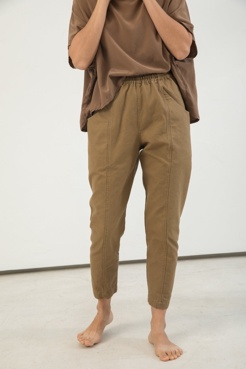 Clyde Work Pant in Cotton Canvas Clay - Lisa-4 Regular