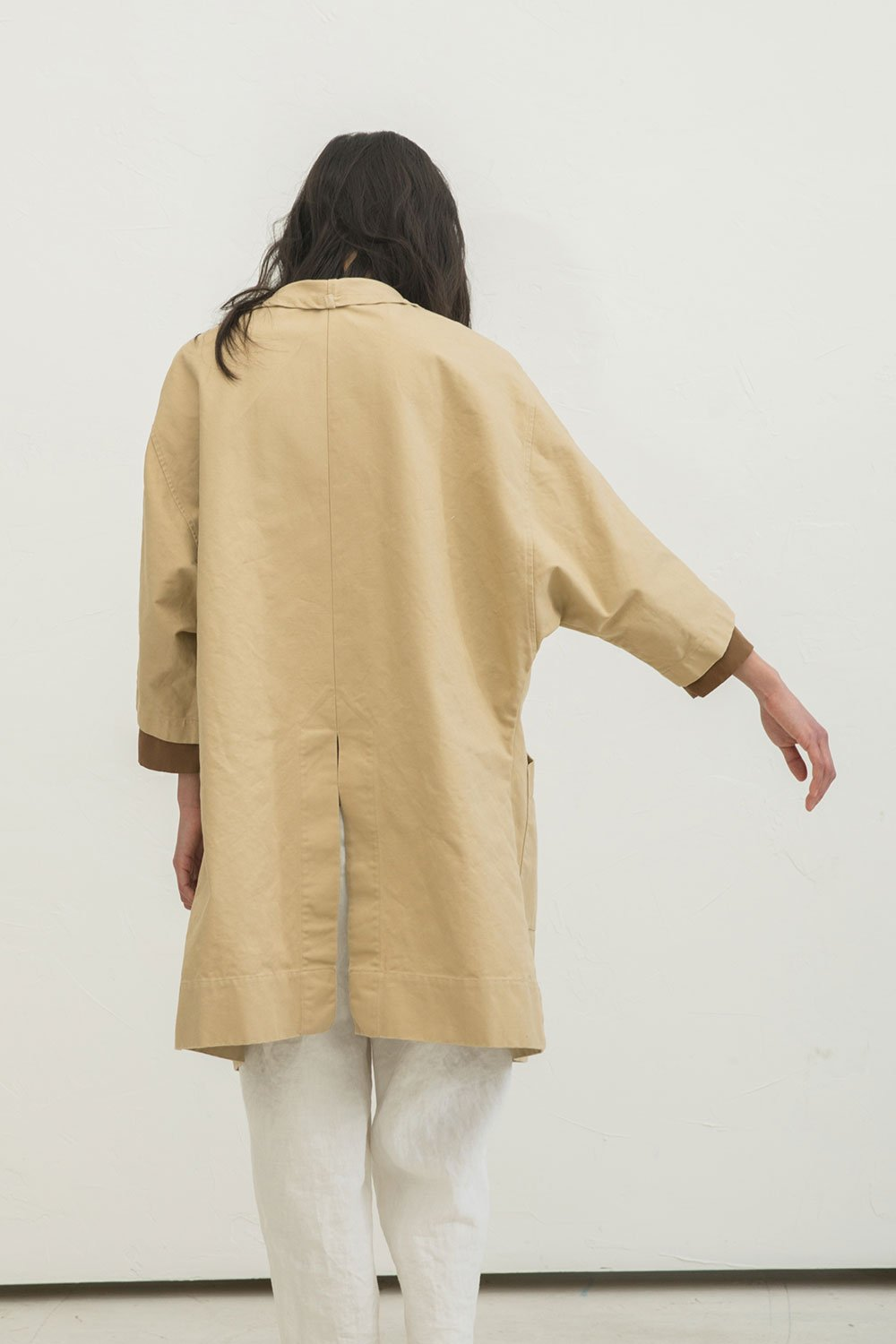 Harper Jacket in Cotton Canvas Khaki - Chung-OSM