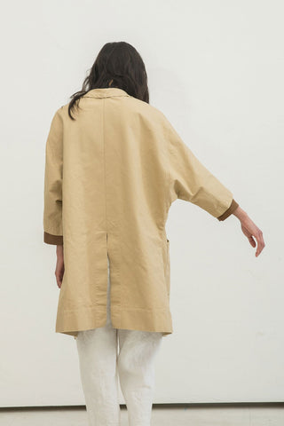Harper Jacket in Cotton Canvas Khaki