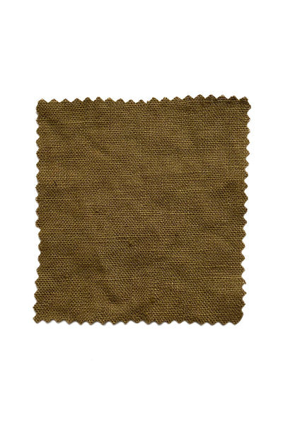 Olive Midweight Linen by the Yard