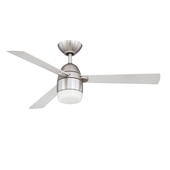 ANTRON DEL 42 pouces Satin Nickel Ventilateur de plafond Kendal Lighting