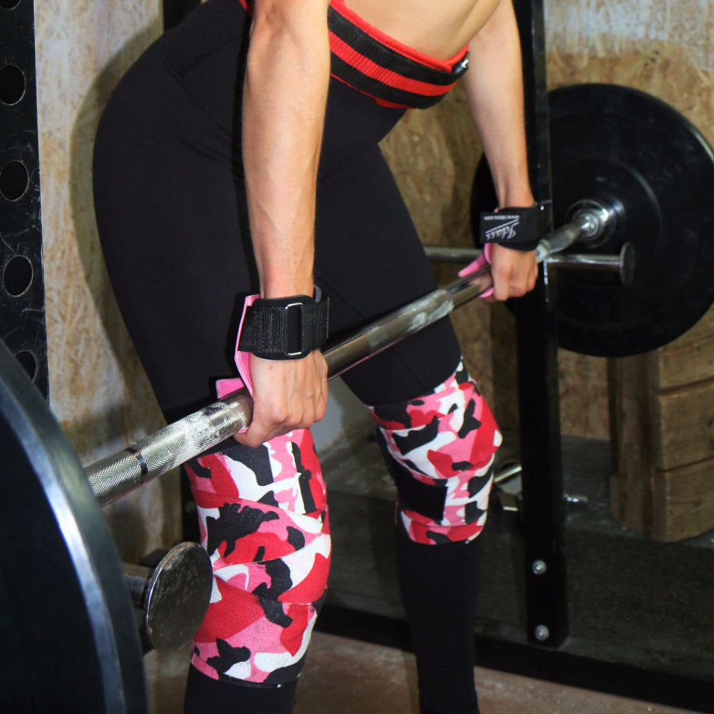 Weight Lifting Knee Support Straps Idass