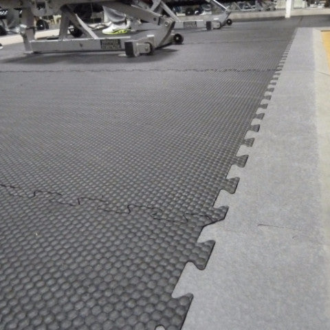Interlocking rubber mats - for free weights areas