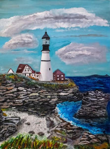The Lighthouse In Maine