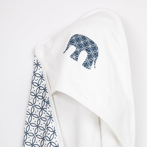 Baby Hooded Towel - Mortimer Elephant Navy