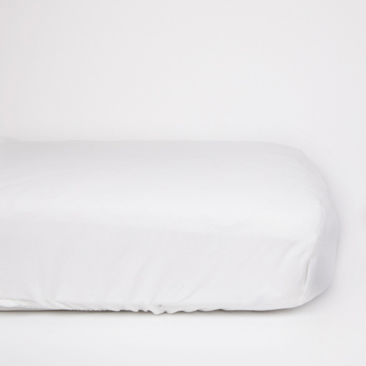 L&M Organic Jersey Sheets-White-Crib