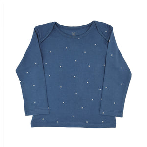 Navy Stars Childrens Long Sleeve Organic Cotton TShirt