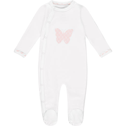 Lily Storytime Romper White & Pink