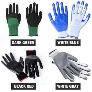 1Pair Oil-proof Working Gloves Protective Safety Heavy Duty Wear-resistant Gloves for Outdoor Labor Anti-cut High Quality