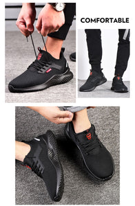 Work Safety Shoes Anti-Smashing Steel safe to Toe Construction Lightweight  Sneakers Boots Men