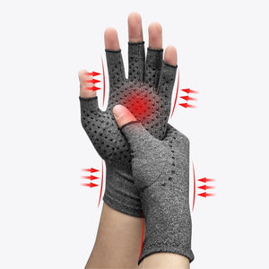 1 Pair Compression Arthritis Gloves Premium  Joint Pain Relief Hand Gloves Therapy Open Fingers Compression Mittens