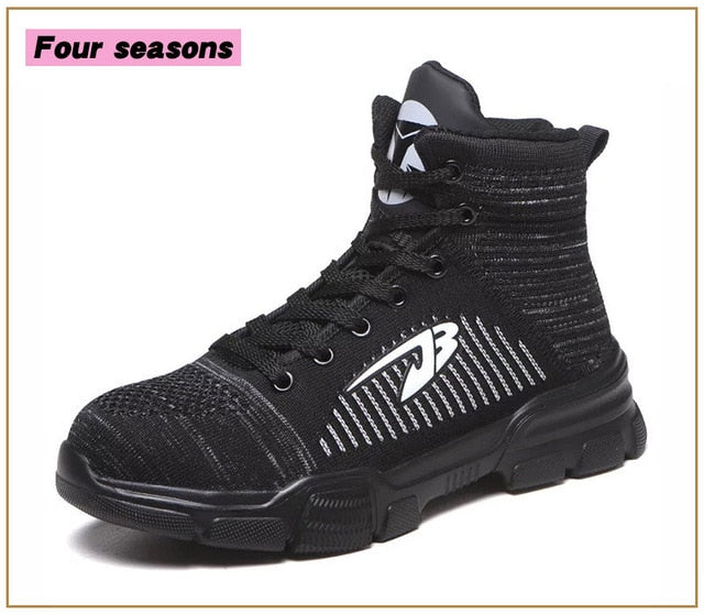 Luxury Designer High Waterproof Steel Toe Cap Work Safety Shoes Unbreakable Sneakers Winter Warm Snow Boots Men Shoes Motorcycle