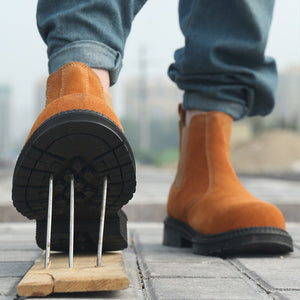 To protect the foot from welding, shocks for men