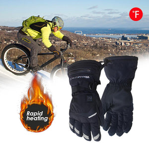 Motorcycle Electric Heated Gloves Temperature 5 Speed Adjustment With 3600mAh Batteries Hand Warmer Skiing Safety Warm Gloves