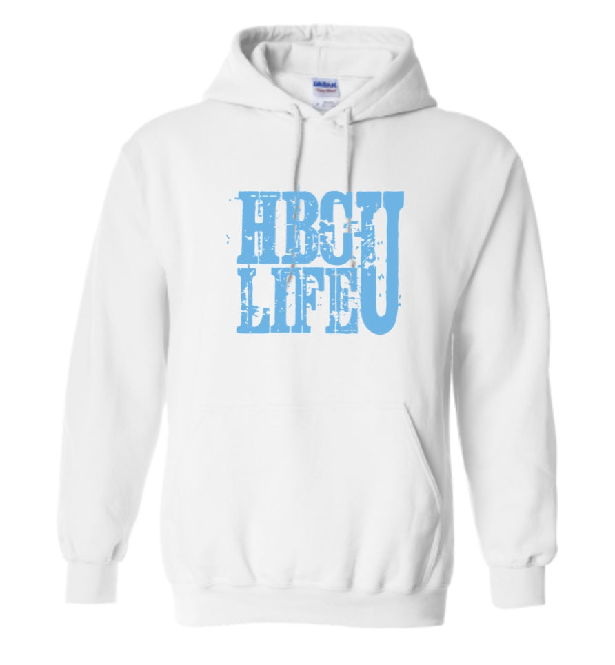 HBCU Life Hoodie-White and Blue