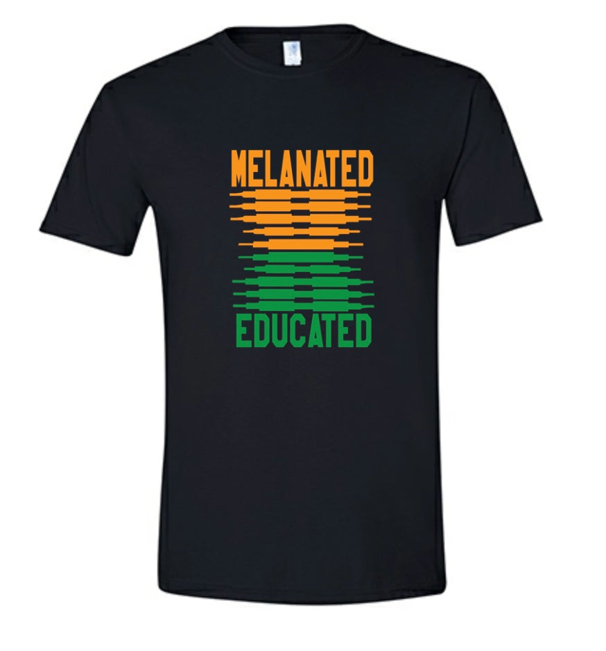 Melanated & Educated-FAMU Tee
