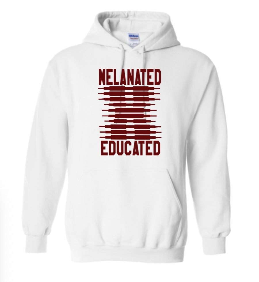 Melanated & Educated- Maroon Hoodie