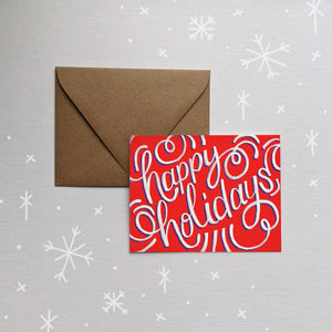 Happy Holidays Folded Card