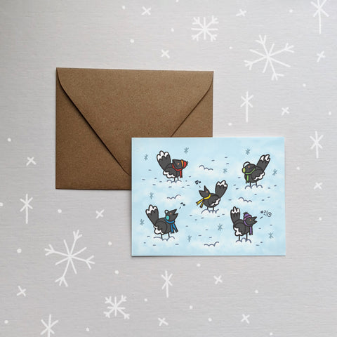 Magpie Folded Card