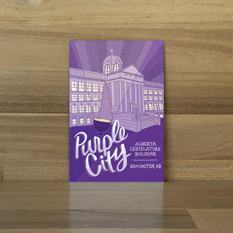 Purple City Postcard