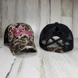 Krazy G Save the Boobies Criss Cross Ponytail Hat