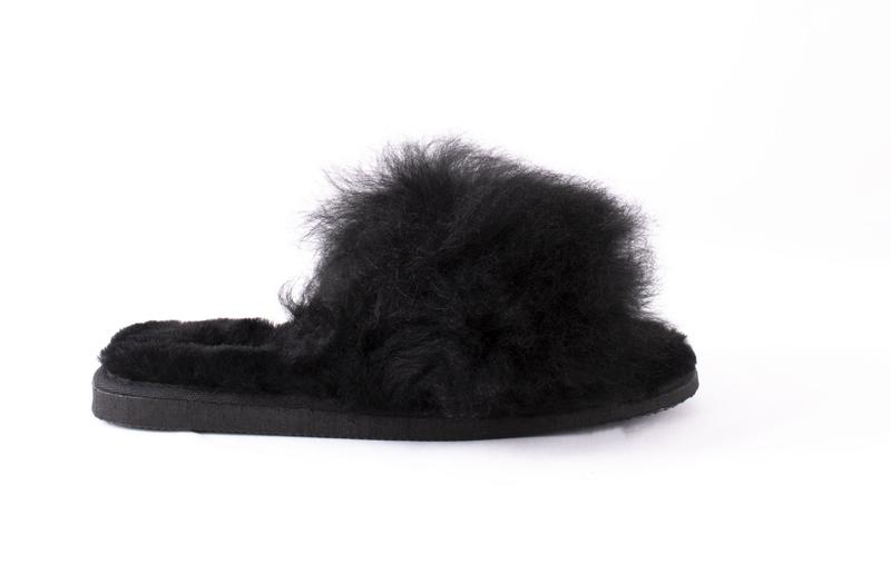 SHEPHERD OF SWEDEN BLACK SLIPPERS