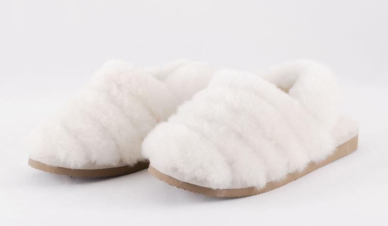 SHEPHERD OF SWEDEN CREAM SLIPPERS