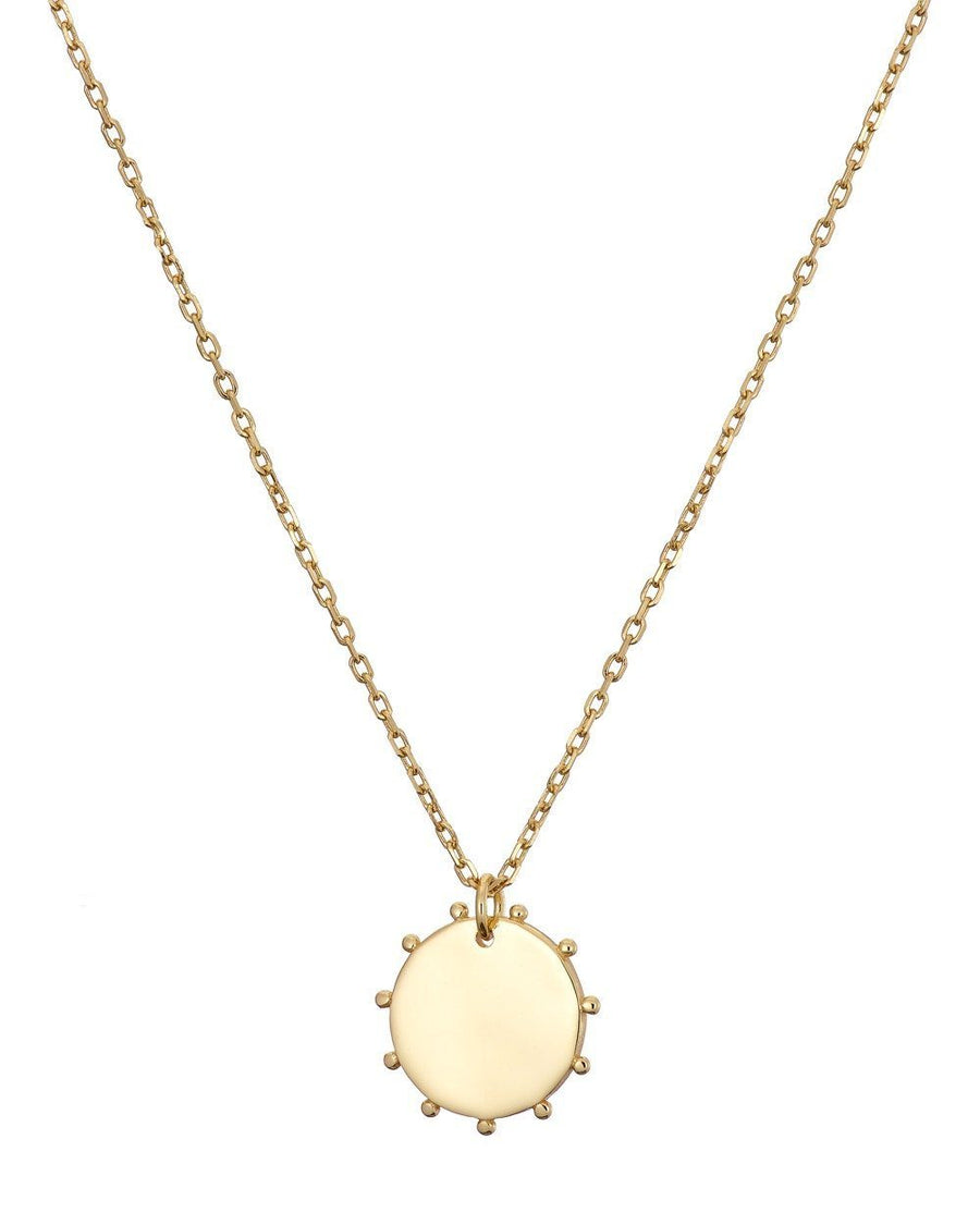 MARY K GOLD DISK NECKLACE