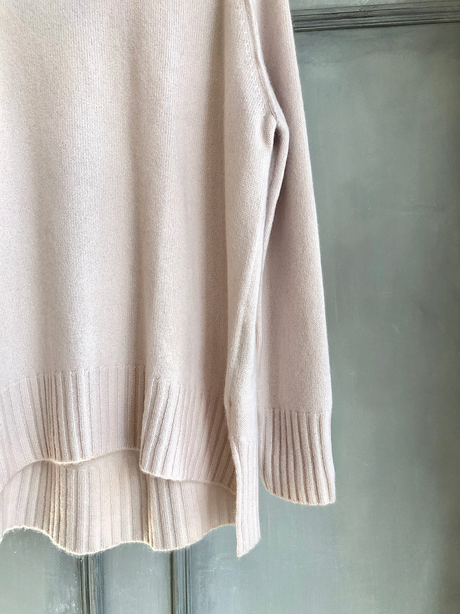 SPHERE ONE SOFT PINK CASHMERE JUMPER