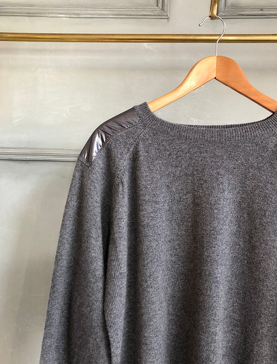 SPHERE ONE GREY CASHMERE JUMPER