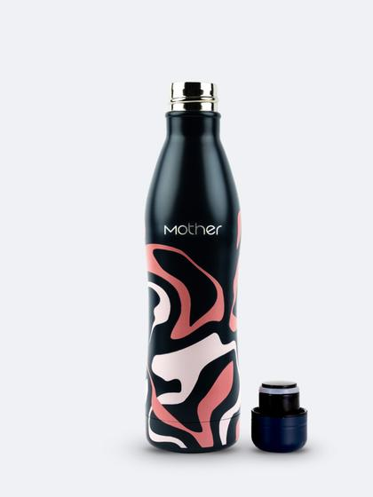 MOTHER BLACK & PINK WATER BOTTLE