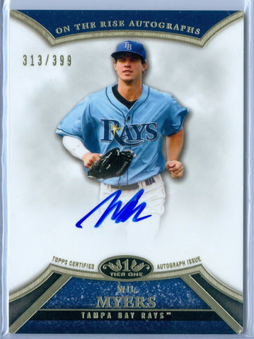 WIL MYERS 2013 TOPPS TIER ONE ON THE RISE ON CARD AUTOGRAPH AUTO #313/399 AB7653