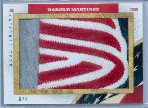 HAROLD MARTINEZ 2013 USA BASEBALL CHAMPIONS PRIME GAME USED PATCH SP/6