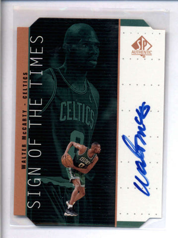 WALTER MCCARTY 1999/00 SP AUTHENTIC SIGN OF THE TIMES BRONZE AUTO AC1760