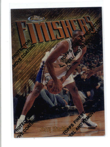 JERRY STACKHOUSE 1997/98 97/98 TOPPS FINEST #157 RARE GOLD CARD SP AC725