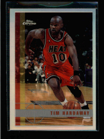 TIM HARDAWAY 1997/98 TOPPS CHROME #156 REFRACTOR PARALLEL AC055