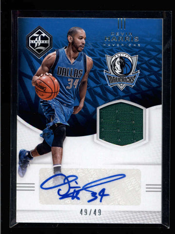 DEVIN HARRIS 2016/17 LIMITED GAME USED WORN JERSEY AUTOGRAPH AUTO #49/49 AC969