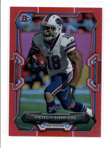 PERCY HARVIN 2015 BOWMAN #99 RAINBOW RED PARALLEL #24/25 (SUPER RARE) AC949