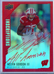 MELVIN GORDON III 2015 UPPER DECK INSCRIPTIONS RED ROOKIE AUTO AUTOGRAPH SP/49