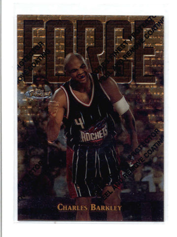 CHARLES BARKLEY 1997/98 97/98 TOPPS FINEST #156 RARE GOLD CARD SP AC724