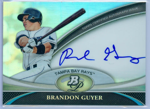 BRANDON GUYER 2011 BOWMAN PLATINUM RC ROOKIE AUTO AUTOGRAPH SP