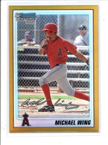MICHAEL WING 2010 BOWMAN CHROME #BCP86 GOLD REFRACTOR ROOKIE RC #12/50 AC827
