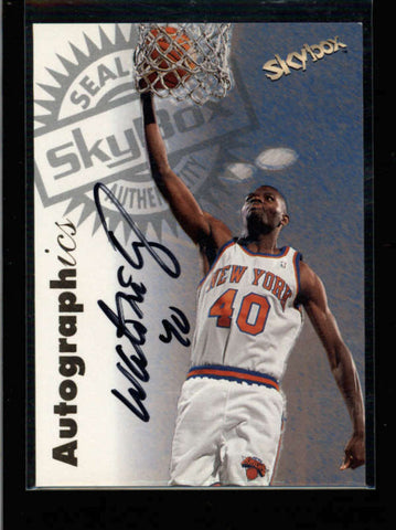 WALTER MCCARTY 1997/98 SKYBOX AUTOGRAPHICS ON CARD AUTOGRAPH AUTO AC1629