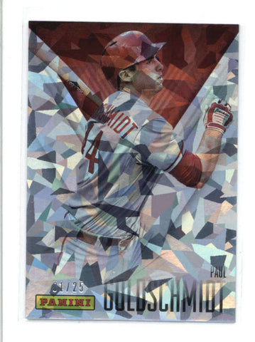 PAUL GOLDSCHMIDT 2014 PANINI FATHERS DAY #22 CRACKED ICE PARALLEL #01/25 AB9515