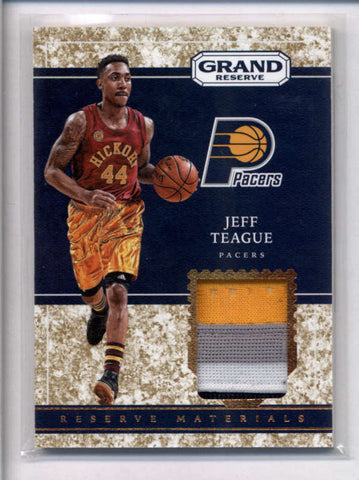 JEFF TEAGUE 2016/17 GRAND RESERVE GRANITE 3-COLOR JERSEY PATCH #20/25 AC2416