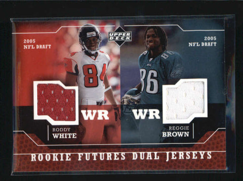 RODDY WHITE / REGGIE BROWN 2005 UPPER DECK DUAL ROOKIE FUTURES JERSEY RC AB6294